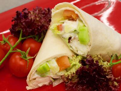 Vegetarischer Wrap